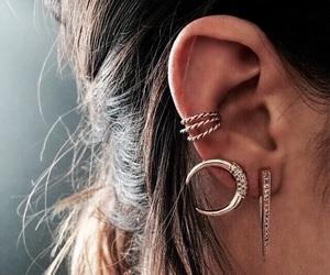 earrings, piercing, and ear image