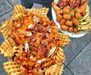 food, fries, and tots image
