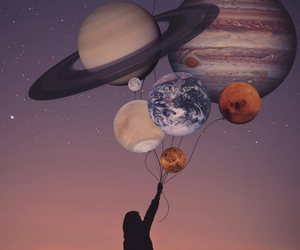 planet, astronomy, and cosmos image