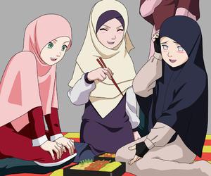 art, shinobi, and hijab image