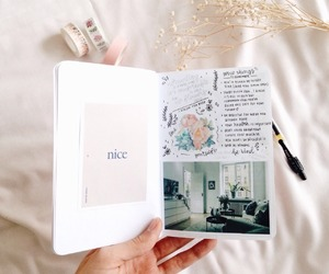 journal and white image