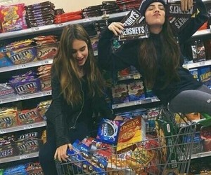 bff, food, and girls image