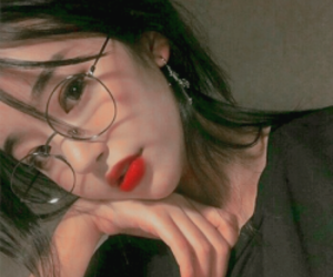 glasses, 얼짱, and asian image