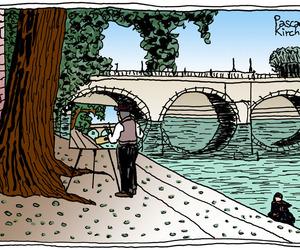 cartoon, ilustracion, and paris image