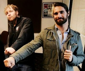 dean ambrose, seth rollins, and wwe image