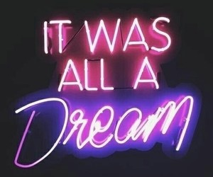 Dream, neon, and pink image