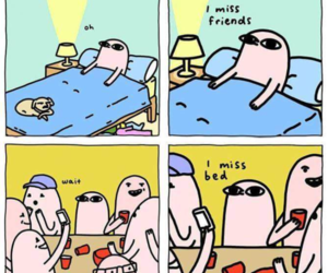 bed, funny, and friends image