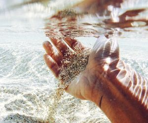 ocean, sand, and vacation image