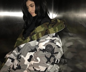 camouflage, fashion, and hair image
