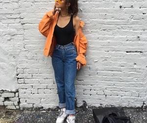 90s, beautiful, and orange jacket image