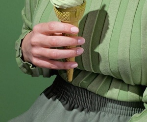 green, aesthetic, and ice cream image