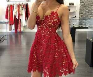 dress, flower, and Hot image