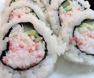 sushi, food, and pastel image