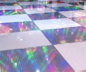 holographic, aesthetic, and floor image