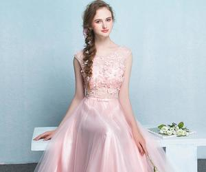 ball gown, chiffon, and formal image
