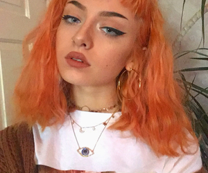 aesthetic, model, and orange image