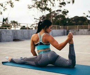 fitness, flexible, and girl image