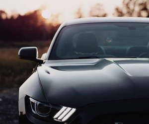 black, sunset, and ford image