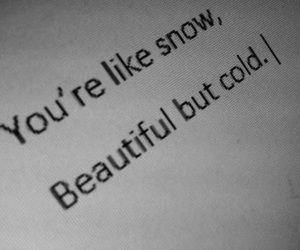 beautiful, cold, and quotes image