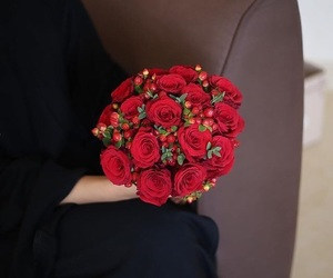 flower, red, and love image