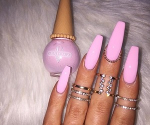 beauty, nail art, and acrylic nails image