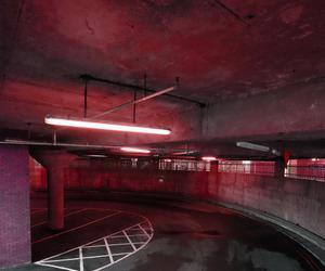 burgundy, parking garage, and maroon image