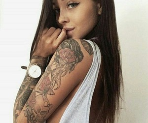beauty, inked, and pretty image