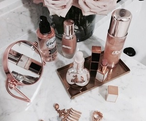 makeup, beauty, and flowers image