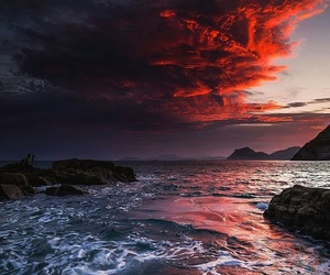 landscapes, red, and skies image
