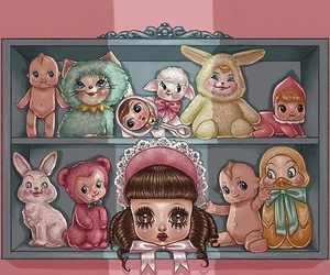 art, baby toys, and babygirl image