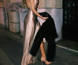 dress, style, and rose gold image