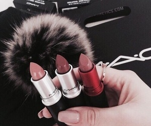 lipstick, nails, and Nude image