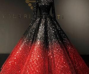 dress, beautiful, and black image