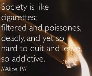 cigarettes, heart, and poem image