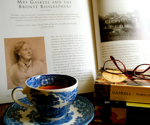 books, literature, and tea cup image