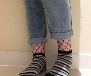 aesthetic, fishnets, and tumblr image