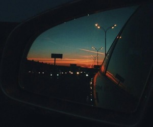 car, travel, and night image