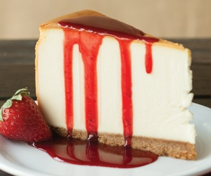 strawberry, dessert, and cheesecake image