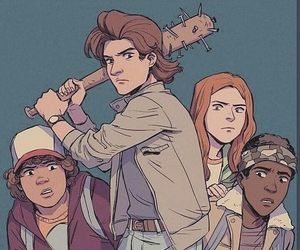 stranger things, steve harrington, and dustin henderson image