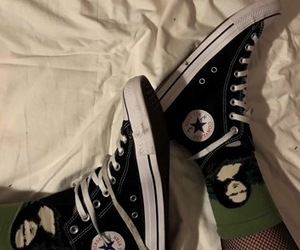 converse, converse all star, and green image