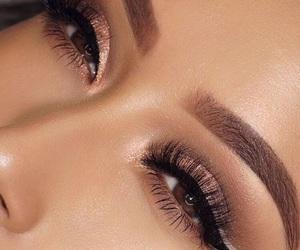 eye liner, fashion, and makeup image