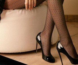 black, elegant, and high heels image
