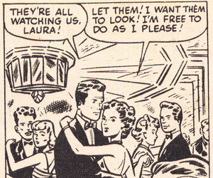 1950s, romance comic, and first romance image