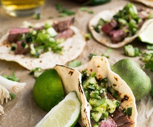 food, green, and tacos image