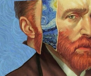 ear, starry night, and vincent van gogh image