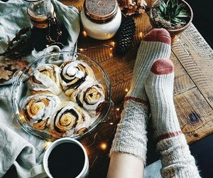 coffee, autumn, and food image