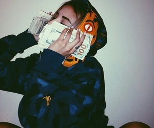 money, girl, and dope image