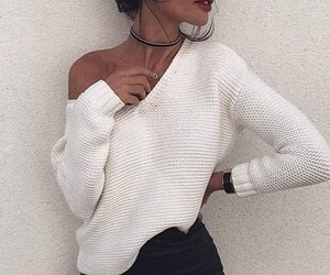 autumn, white, and sweater image