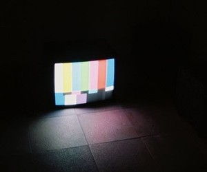 tv, dark, and aesthetic image