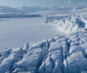 frozen, glacier, and svalbard image